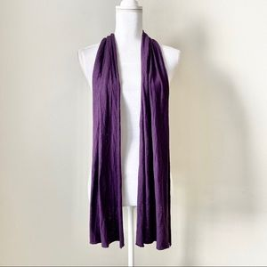 Purple fashion scarf